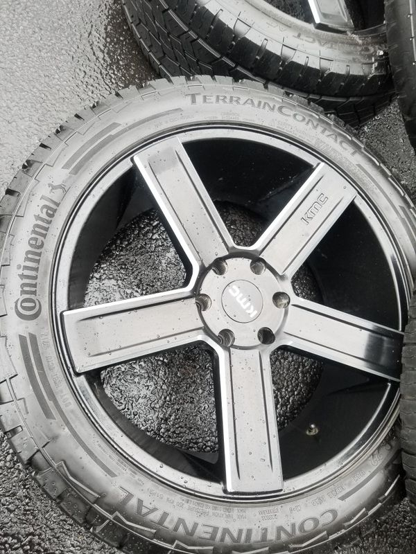 "22"" KMC wheels tires 6 lugs gmc chevy"