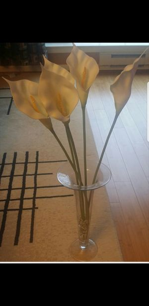 Flower vase,Art,Large glass Jar for Sale in Clarksburg, MD