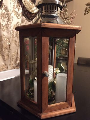Home decor (Wood Candle Holder Lantern) for Sale in Los Angeles, CA