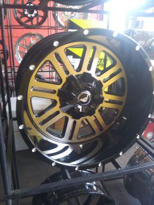 20X12 American offroad rims 33X12.50R20 mt 8/165 for Sale in Phoenix, AZ