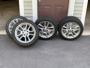 4 Continental Extreme Contact Sport tires with rims Plus TPMS included for Sale in Freeport, ME