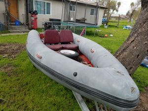 Inflatable hard bottom boat for Sale in Sacramento, CA