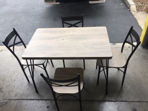 5 PC Dining Set, Grey & Bronzet for Sale in Santa Fe Springs, CA