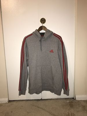 Adidas Hoodie Jacket Grey and Red for Sale in Philadelphia, PA