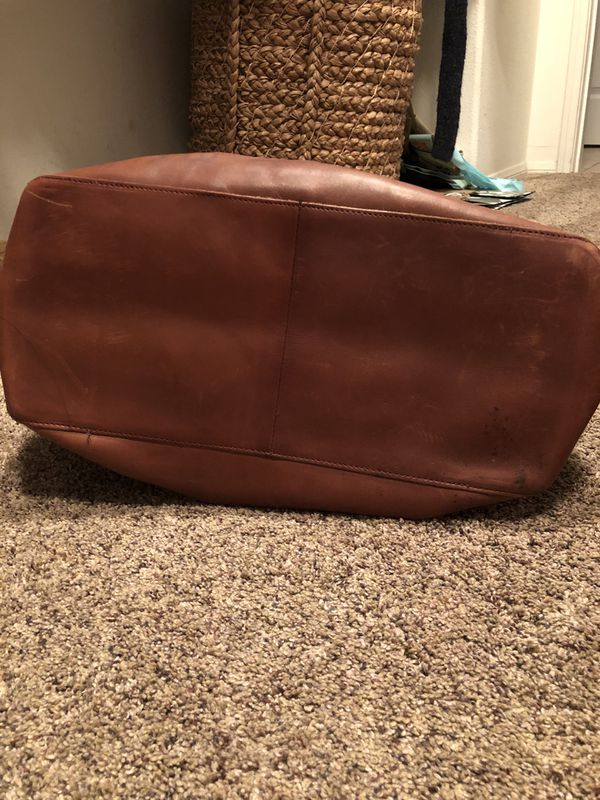 LL Bean Leather Tote Bag
