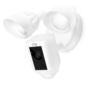 Ring Floodlight Camera Motion-Activated HD Security Cam Two-Way Talk and Siren Alarm, White for Sale in Trumbull, CT
