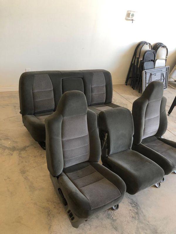 Seats for 2003 f -250 4×4 4 door good shape grey color