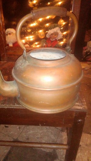 Antique 1800s teapot copper for Sale in Victoria, TX