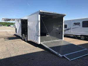 2020 8.5X28 BRAVO BUMPER PULL ENCLOSED CAR TRAILER for Sale in North Jackson, OH