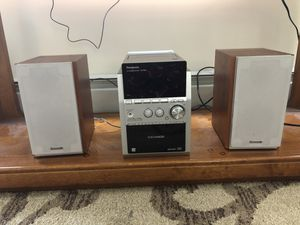 Used Panasonic SB-PM53 Compact Bookshelf Stereo System AM/FM CD Cassette for Sale in Chestnut Hill, MA