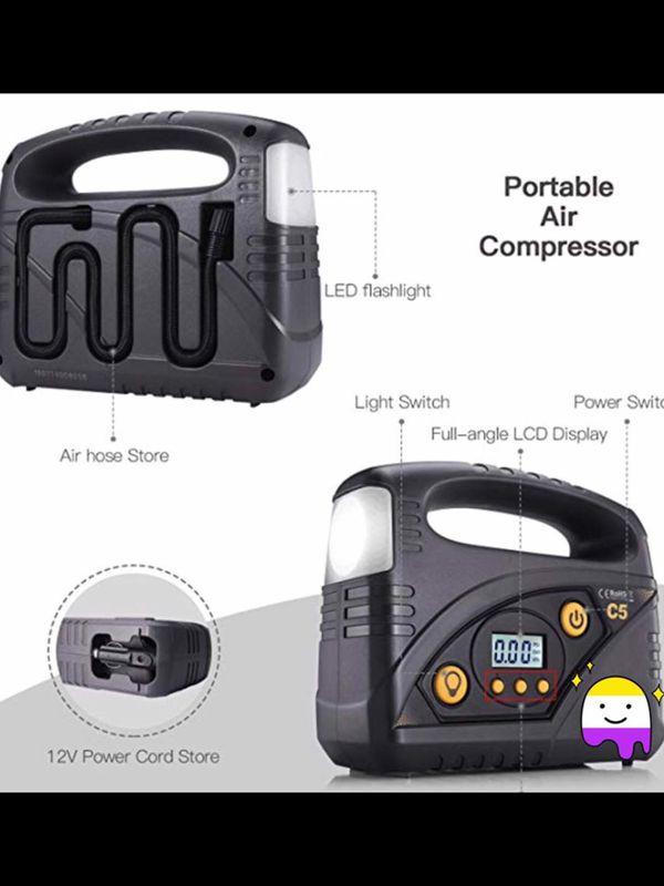 Inflator, 40L/min Portable Air Compressor Pump, 12V