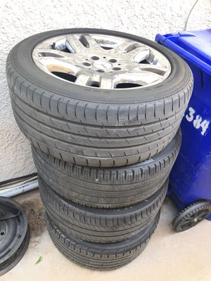Rims with tires for Mercedez Benz e320 size 245/45R17 for Sale in Rancho Cucamonga, CA