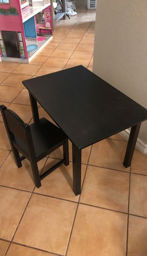 Kids table with chair for Sale in Grand Prairie, TX