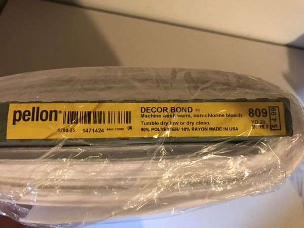 Pellon Decor Bond 809 20 Yard Bolt In Plastic For Sale In Raleigh