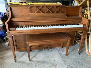 Wood piano with bench for Sale in Federal Way, WA