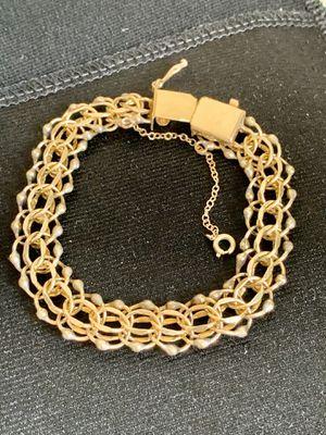 Vintage American Gold Filled Double Chain Bracelet 1/20 12KT GF for Sale in Los Altos, CA