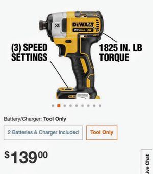 """NEW !! DEWALT 20 VOLT MAX XR BRUSHLESS """"""""3 SPEED"""""""" IMPACT DRIVER (TOOL ONLY) NO BATTERY NO CHARGER for Sale in Los Angeles, CA"""