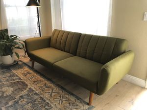 Mid Century Modern Green Futon for Sale in Glendale, AZ