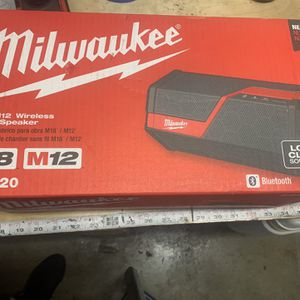 Milwaukee Wireless Speaker Bluetooth for Sale in Alameda, CA