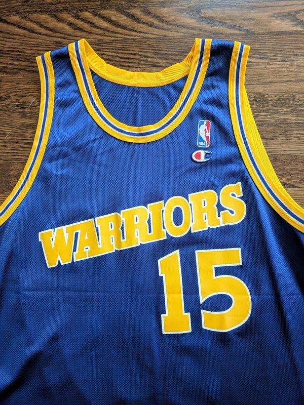 b2666930e Latrell Sprewell Champion Jersey 48 Golden State Warriors XL Vintage Rare