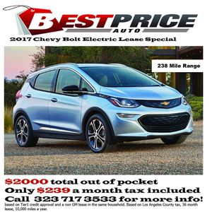 2017 Chevy bolt lease for Sale in Los Angeles, CA