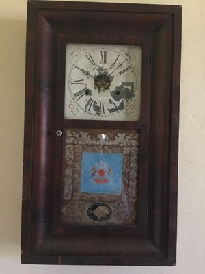 Antique OG Box style wind up Clock for Sale in Davie, FL