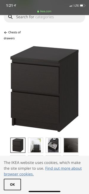 IKEA bed frame n nightstand for Sale in Roselle, NJ