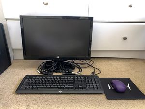 HP Monitor with Keyboard and Mouse and Mouse Pad for Sale in Mesa, AZ