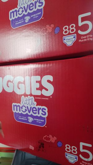 Diapers huggies little movers size 5 88 account for Sale in Stockton, CA