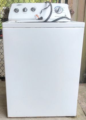 WHIRLPOOL WASHING MACHINE WASHER LAUNDRY. BalanceOff/SpinDrainNeedsREPAIR. DoorLockMechanism? USED, WELL-WORTH the TIME to FIX. for Sale in Baytown, TX