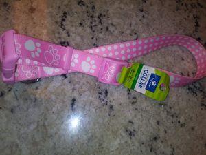 LARGE PINK PAWS AND POLKA DOTS DOG COLLAR for Sale in Jessup, MD