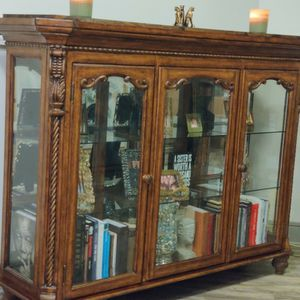 Repurposed China Cabinet Great TV Stand Bookshelf Curio Cabinet for Sale in Morrisville, NC