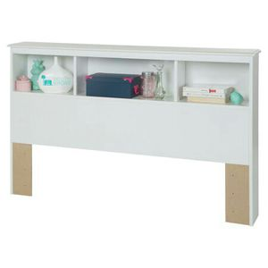 South Shore Crystal Full Bookcase Headboard, White for Sale in Columbus, OH