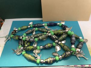 Seattle Football Necklace Quilled , Handmade Green Blue Gray Football Charms , New Clothes for Sale in Auburn, WA