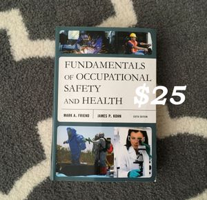 Fundamentals of Occupational Safety and Health by James P. Kohn and Mark A. Friend (2014, Paperback) for Sale in Portland, OR