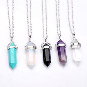 Cool crystal stone pendant necklace 2 pack for Sale in Phoenix, AZ