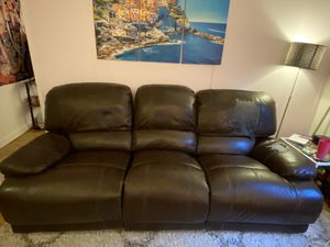 FREE leather brown couch for Sale in New York, NY
