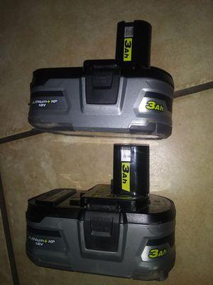 18v ryobi 3.0AH batteries for Sale in Phoenix, AZ