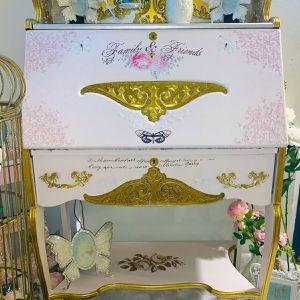 Vintage Pink Victorian Secretary Desk for Sale in Los Angeles, CA