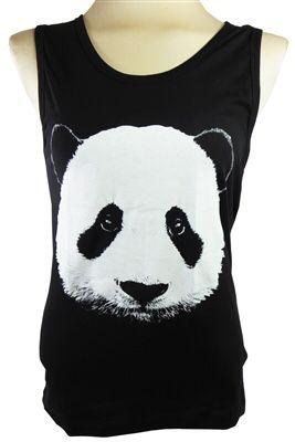 Panda tanktop sleeveless shirt black NEW Unisex for Sale in Bensenville, IL