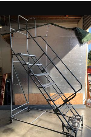 Uline Rolling Ladder & Racks for Sale in Downey, CA