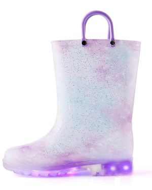Girl Rain Boots with Light - size13 little kid for Sale in San Francisco, CA