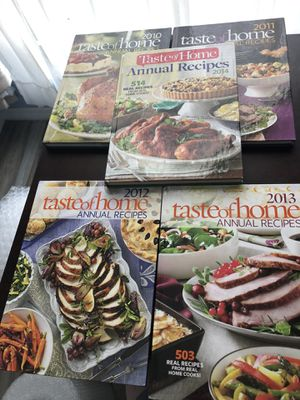 Taste of home annual cookbook 2010-2014 for Sale in Kissimmee, FL