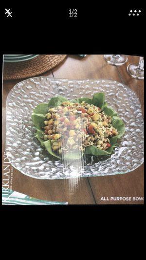 Kirkland's Glass bowl $10 new in box for Sale in Stockton, CA