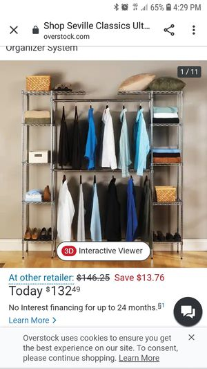 Closet organizer for Sale in Farmville, NC