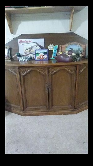 Wood cabinet with shelf for Sale in Independence, OH