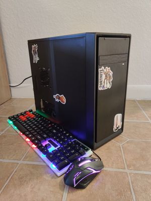 BUDGET GAMING DESKTOP COMPUTER INTEL CORE I3 QUADCORE 3.50GHZ, 8GB RAM, 128GB SSD+500GB, AMD RADEON GRAPHICS, USB 3.0 for Sale in Miami, FL