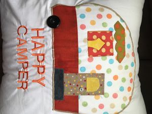 Happy Camper pillow for Sale in Ripon, CA