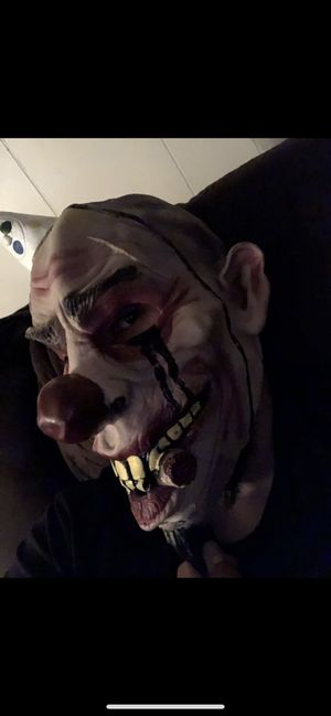 Bday clown mask for Sale in Fresno, CA