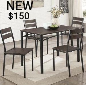 5 Pc Dining Table Set in Antique Brown/Black for Sale in Corona, CA